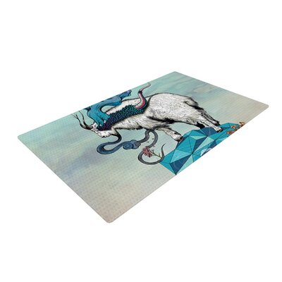 Seeking New Heights Goat Novelty Rug Rug Size: 2 x 3