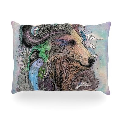 Forest Warden Bear Nature Outdoor Throw Pillow Size: 14 H x 20 W x 3 D