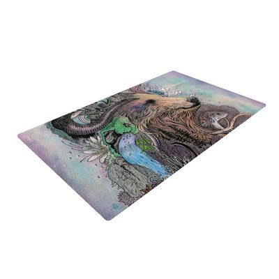 Forest Warden Bear Area Rug Rug Size: 2 x 3