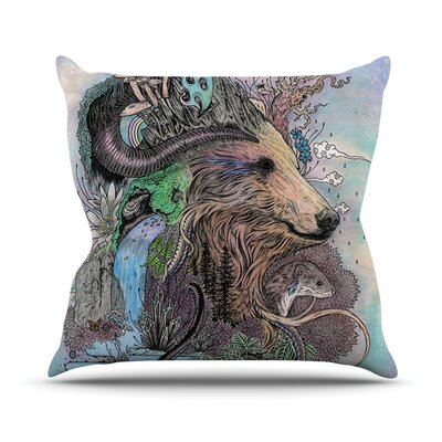 Forest Warden by Mat Miller Bear Nature Throw Pillow Size: 18 H x 18 W x 3 D