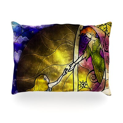 Fairy Tale off to Neverland Outdoor Throw Pillow Size: 14 H x 20 W x 3 D