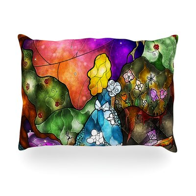 Fairy Tale Alice in Wonderland Outdoor Throw Pillow Size: 14 H x 20 W x 3 D