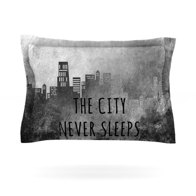 Alison Coxon The City Never Sleeps Featherweight Sham Size: Standard