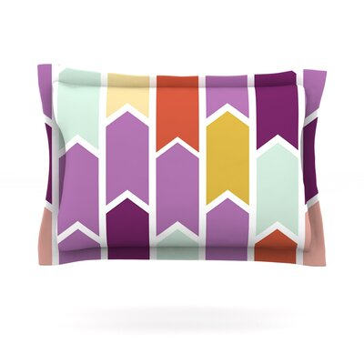 Pellerina Design Orchid Geometric Chevron Purple Arrows Featherweight Sham Size: Standard, Fabric: Cotton