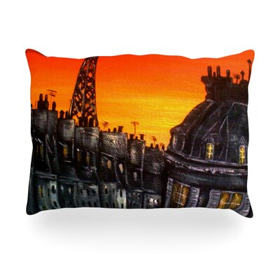 Paris Outdoor Throw Pillow Size: 14 H x 20 W x 3 D