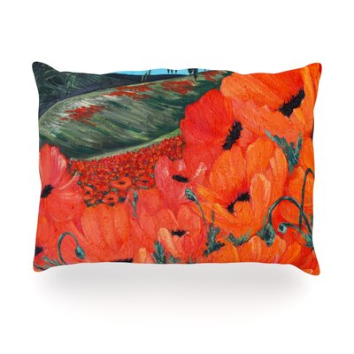 Poppies Outdoor Throw Pillow Size: 14 H x 20 W x 3 D