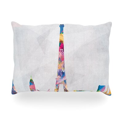 Paris City Rainbow Indoor/Outdoor Throw Pillow Size: 20 H x 20 W x 4 D