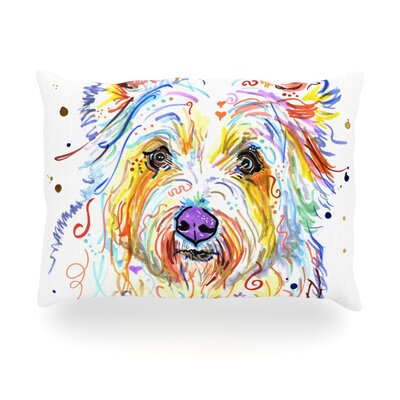 Bella Scottish Terrier Outdoor Throw Pillow Size: 14 H x 20 W x 3 D