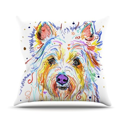 Bella Scottish Terrier Outdoor Throw Pillow Size: 26 H x 26 W x 4 D