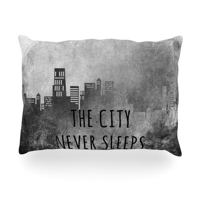 The City Never Sleeps Outdoor Throw Pillow Size: 14 H x 20 W x 3 D