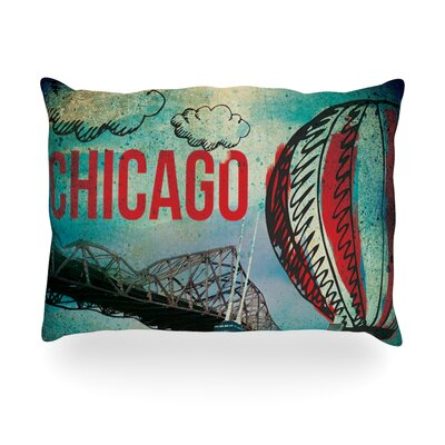 "Kess InHouse Chicago Outdoor Throw Pillow - Size: 14"" H x 20"" W x 3"" D at Sears.com"