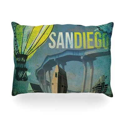 San Diego Outdoor Throw Pillow Size: 14 H x 20 W x 3 D