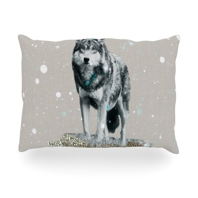 Wolf Outdoor Throw Pillow Size: 14 H x 20 W x 3 D