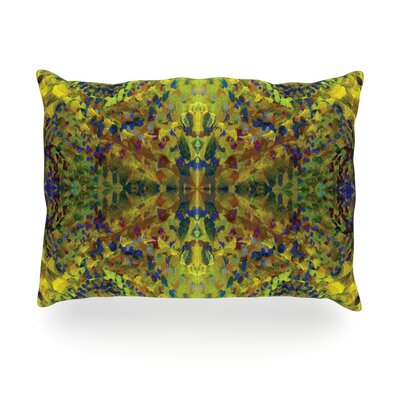 Yellow Jacket Abstract Outdoor Throw Pillow Size: 14 H x 20 W x 3 D
