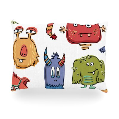 Little Monsters Outdoor Throw Pillow Size: 14 H x 20 W x 3 D