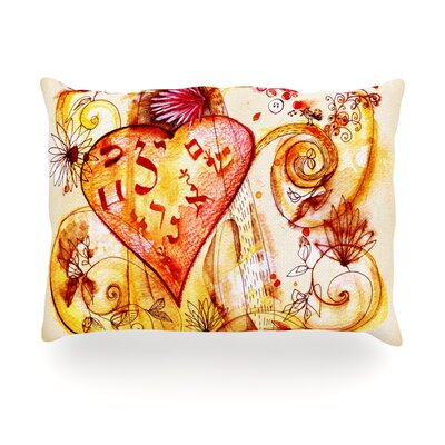 Tree of Love Outdoor Throw Pillow Size: 14 H x 20 W x 3 D