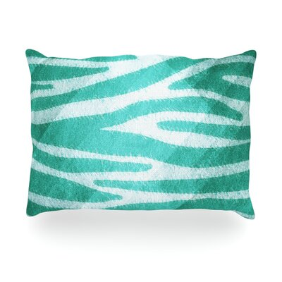 Zebra Print Texture Outdoor Throw Pillow Size: 14 H x 20 W x 3 D