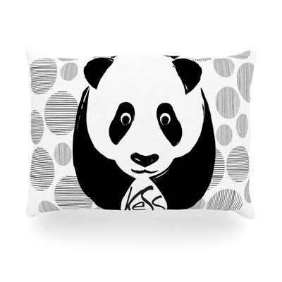 Panda Outdoor Throw Pillow Size: 14 H x 20 W x 3 D