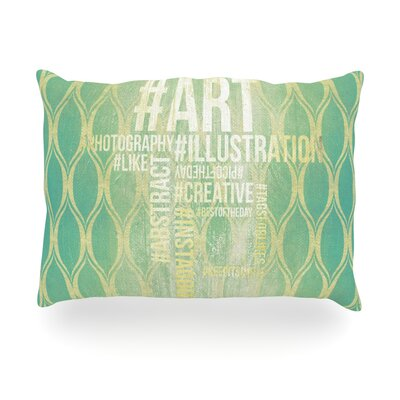 Hashtag Outdoor Throw Pillow Size: 14 H x 20 W x 3 D