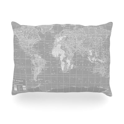The Olde World Outdoor Throw Pillow Size: 14 H x 20 W x 3 D