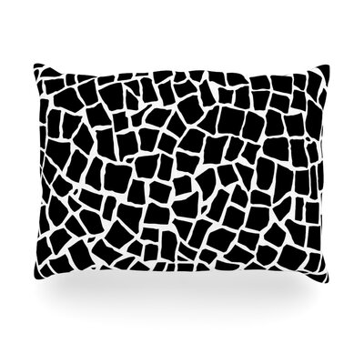 British Mosaic Outdoor Throw Pillow Size: 14 H x 20 W x 3 D