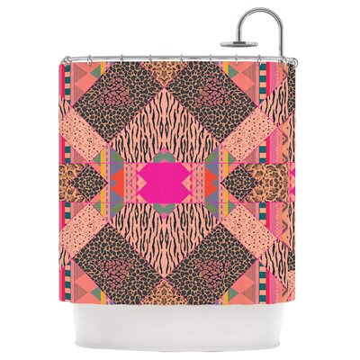 New Wave Zebra Shower Curtain