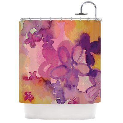 Dissolved Flowers Shower Curtain