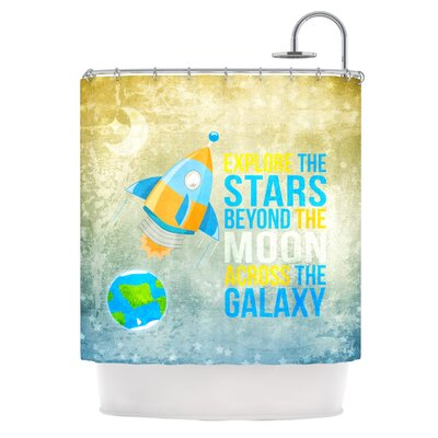 Explore The Stars Shower Curtain