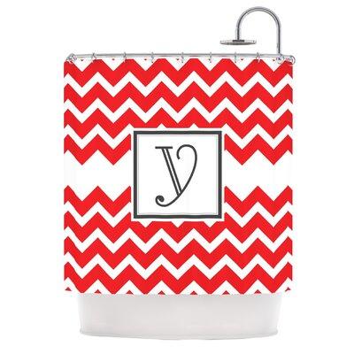 Monogram Chevron Shower Curtain Letter: Y