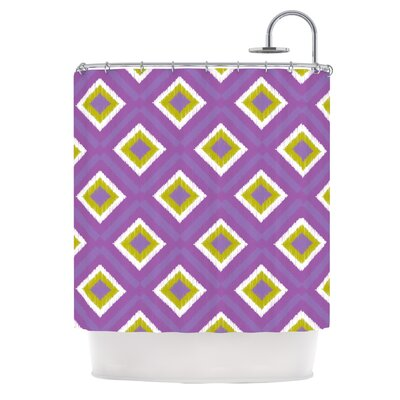 Purple Splash Tile Shower Curtain