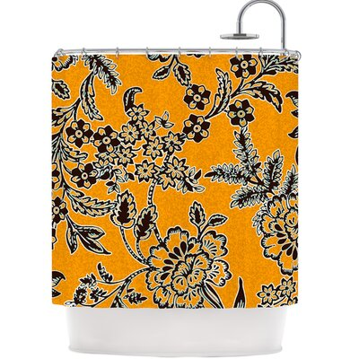 Shower Curtain Color: Golden Blossom