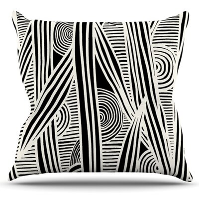 Graphique Throw Pillow Size: 26 H x 26 W x 5 D, Color: Black