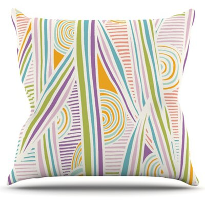 Graphique Throw Pillow Size: 18 H x 18 W x 4.1 D, Color: White