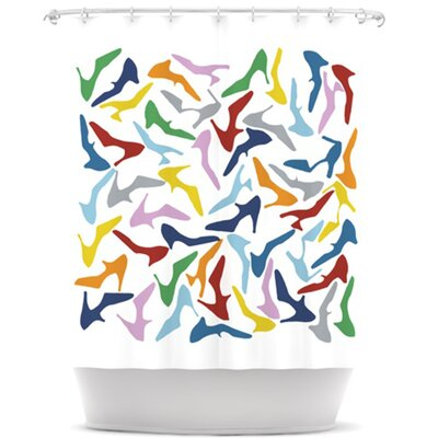 Shoe Shower Curtain Color: Multi