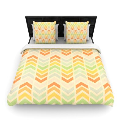 Infinity by Skye Zambrana Woven Duvet Cover Size: King/California King