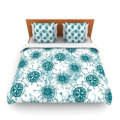 Satellite by Anchobee Featherweight Duvet Cover Size: Queen, Fabric: Lightweight Polyester