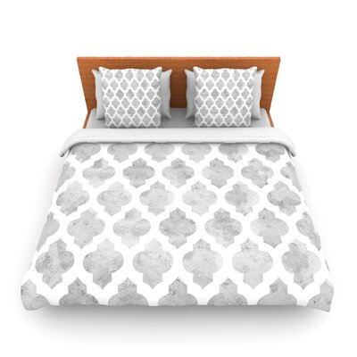 Gray Moroccan by Amanda Lane Woven Duvet Cover Size: Twin