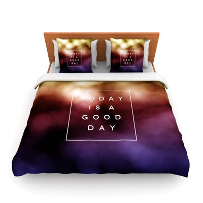 Good Day by Galaxy Eyes Featherweight Duvet Cover Size: Queen, Fabric: Lightweight Polyester