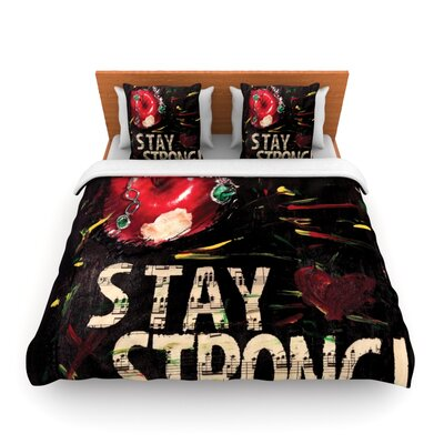 Stay Strong by Alexa Nicole Featherweight Duvet Cover Size: Queen, Fabric: Woven Polyester