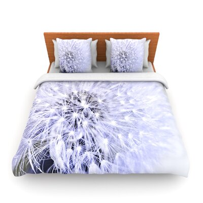 Lavender Wish by Debbra Obertanec Woven Duvet Cover Size: Twin