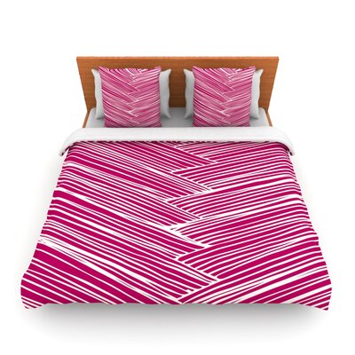 Loom by Anchobee Featherweight Duvet Cover Size: King/California King, Fabric: Lightweight Polyester