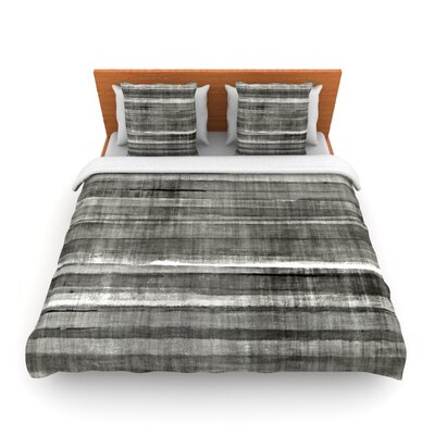 Gray Accent by CarolLynn Tice Woven Duvet Cover Size: Twin