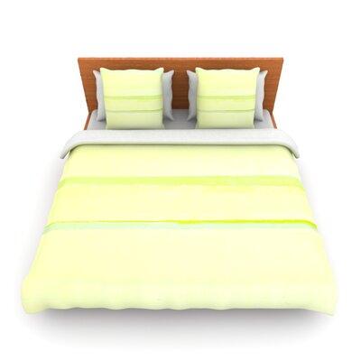 Lemons by CarolLynn Tice Woven Duvet Cover Size: Queen