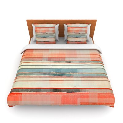 Patton by CarolLynn Tice Woven Duvet Cover Size: Twin