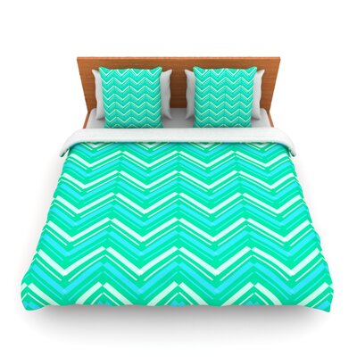 Symetrical by CarolLynn Tice Woven Duvet Cover Size: Queen