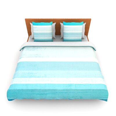 Waves by CarolLynn Tice Woven Duvet Cover Size: Twin