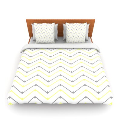 Witty by CarolLynn Tice Woven Duvet Cover Size: Queen
