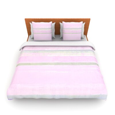 Yogurt by CarolLynn Tice Woven Duvet Cover Size: Queen