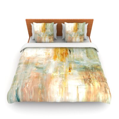 Coffee by CarolLynn Tice Woven Duvet Cover Size: King/California King