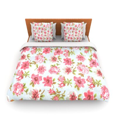 Petals Forever by Heidi Jennings Woven Duvet Cover Size: Twin